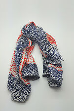"""*GIVENCHY* VINTAGE RED WHITE AND BLUE CHEVRON DOTS SILK SCARF 30"""""""