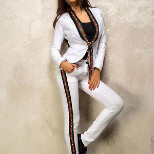 Giacca skinny pezzi Blazer Pantaloni l bianca Ocassion da donna donna Giacca 2 da Xs w6r0RxrIUq