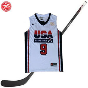 size 40 49a19 0f53d Details about Michael Jordan 9 Jersey 1992 USA Basketball Olympic Dream  Team White