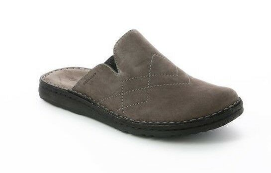 Grunland Ci1100 Buck with Grey Slipper Man Real Leather Supersoft Comfortable