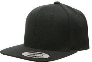 b2466bdd5df Yupoong Pro-Style Wool Blend Snap Back Blank Hat Baseball Cap 6098M ...