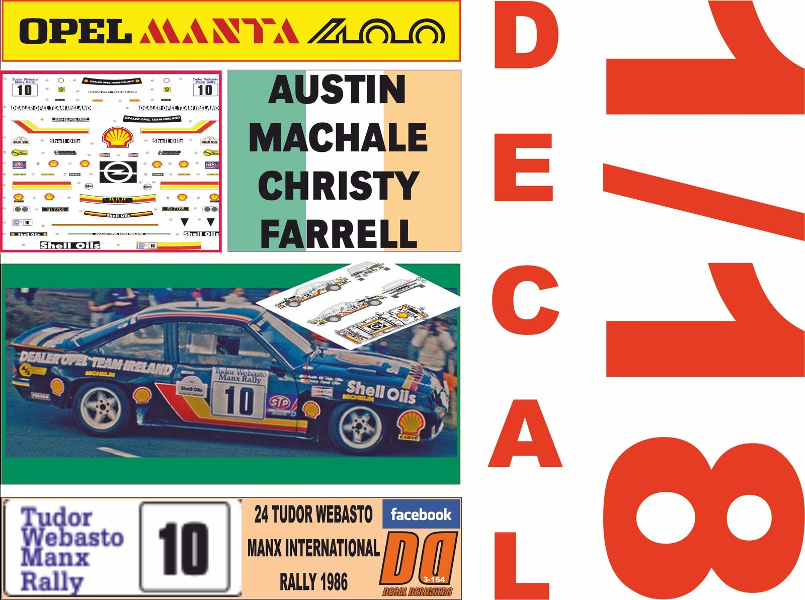 Decal 1 18 opel manta 400 A. machale manx rally 1986 6th (02)