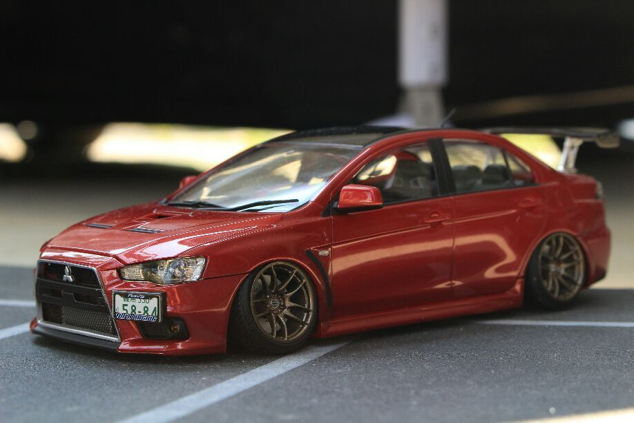 Very Rare  Aoshima Lancer Evolution X Completed Item From JAPAN Free shipping