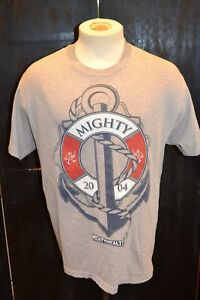 MENS-GREY-MIGHTY-HEALTHY-PRINTED-GRAPHIC-T-SHIRT-SIZE-LARGE