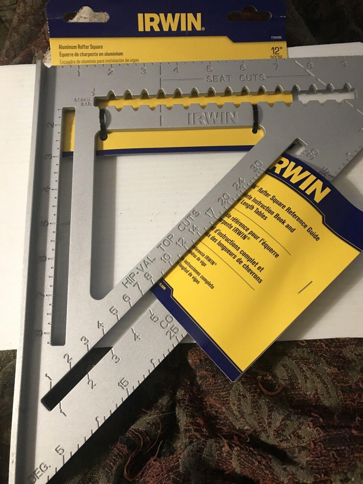 IRWIN Tools Rafter Square 1794465 12-Inch Aluminum