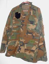 US Army Woodland Camo Coat FIRE RESISTANT AIRCREW Combat  Large Regular