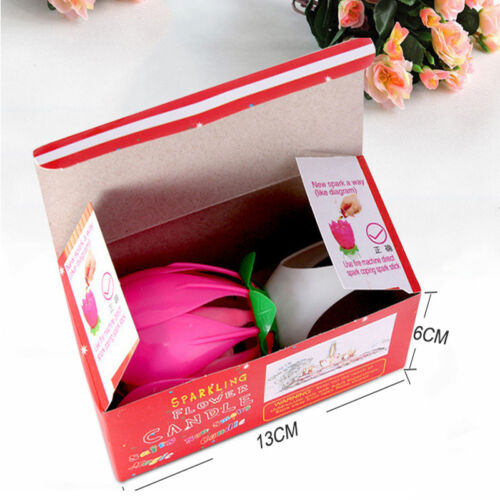 Musical Charming Lotus Flower Rotating Happy Birthday Party Gift Lights Candle