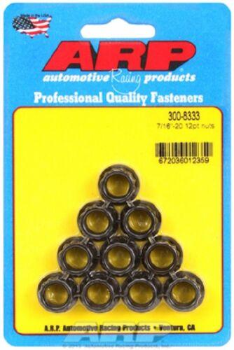 ARP 300-8333 7//16-20 12pt Nut Kit 8740 Chrome Moly 7//16˝-20 1//2 12pt wrenching