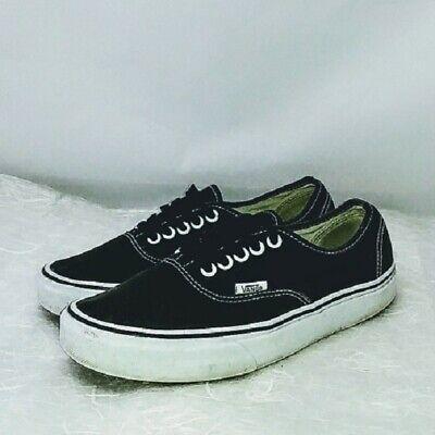 VANS Unisex Authentic Lo Pro Sneakers Skate Shoes Black True White ...