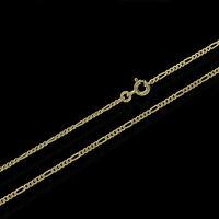 Figaro 333 Gelb Gold Kette 50 Cm Halskette Collier 1,85mm Breit Panzerkette 3720