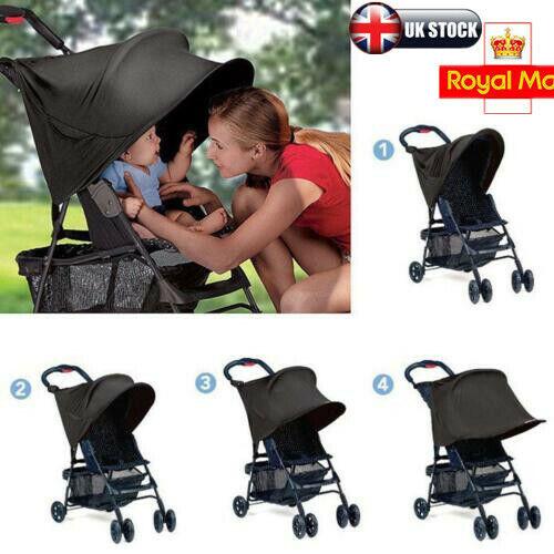 Sun Ray Shade Canopy UPF50 FOR Buggy//Pushchair//Pram Better Than Sun Umbrella UK