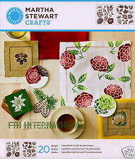 Martha Stewart Four Seasons ~ Laser Cut Stencil Set #32259 Flower Leaf Christmas