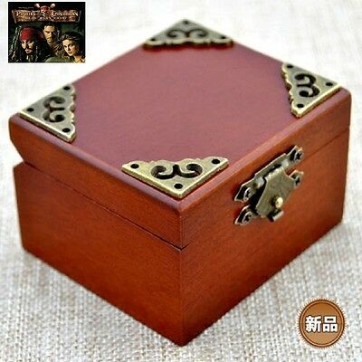 CLASSIC OCTAGON WOOD WIND UP MUSIC BOX Davy Jones Theme Song