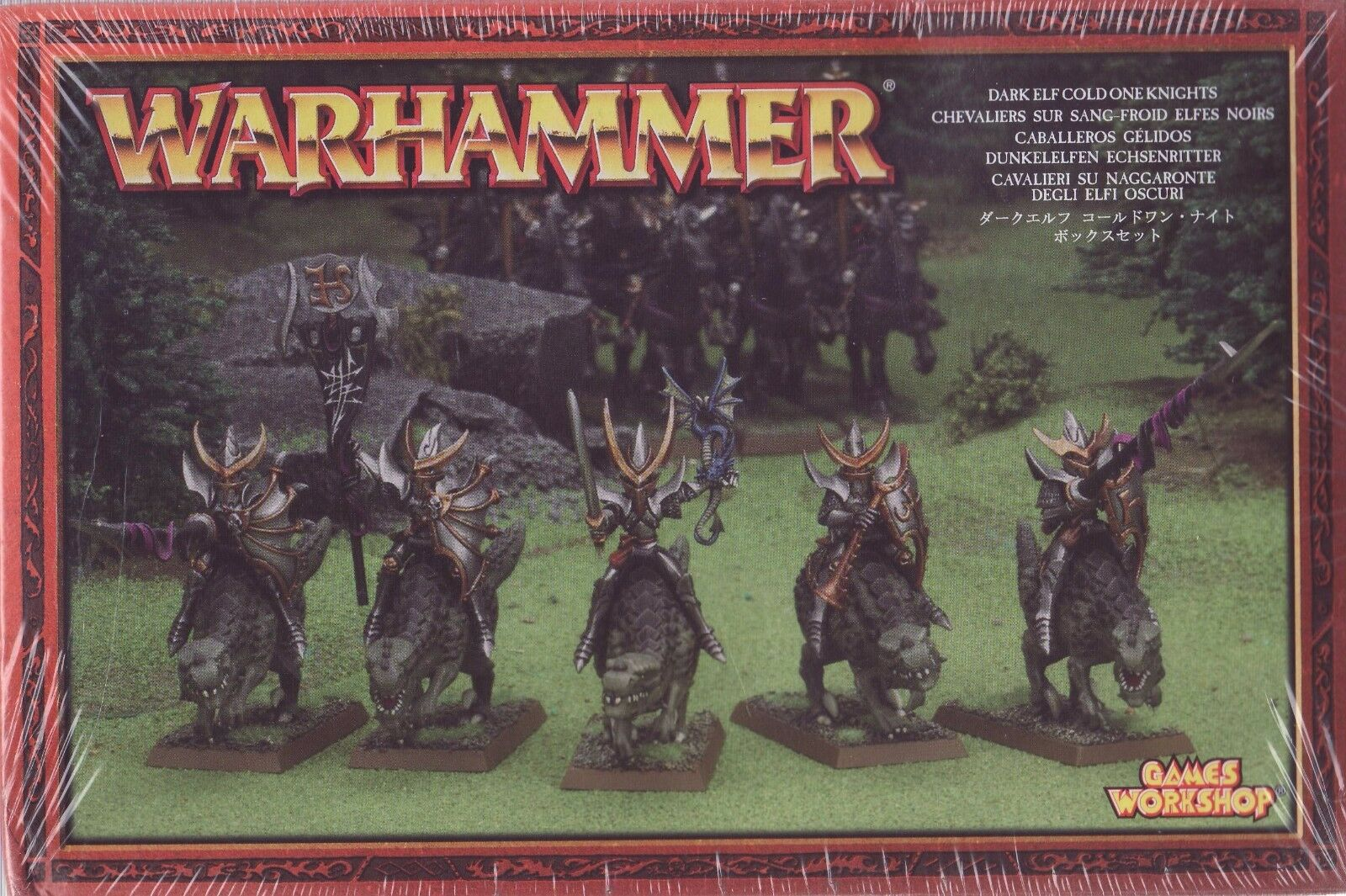 Warhammer Dark Elf Cold One Knights - 85-08 - FACTORY SEALED Games Workshop OOP