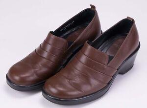DANSKO-Women-039-s-Professional-Clogs-Leather-Loafers-Sz-38-US-7-5-Brown-Slip-On