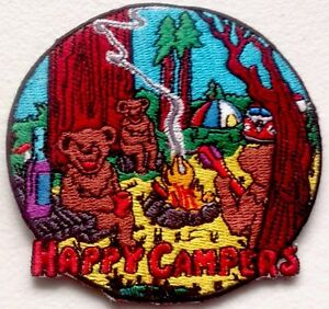 Image is loading PATCH-NEW-HAPPY-CAMPERS-THREE-BEARS-CAMPFIRE-VW- & PATCH NEW HAPPY CAMPERS THREE BEARS CAMPFIRE VW BUS TENT | eBay