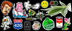 16-Weed-Marijuana-Cannabis-Parody-Vinyl-Stickers