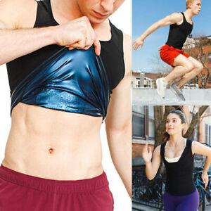 Sweat Women Men Slimming Sport Sauna Polymer Vest Weight Loss Tank Top Shaping