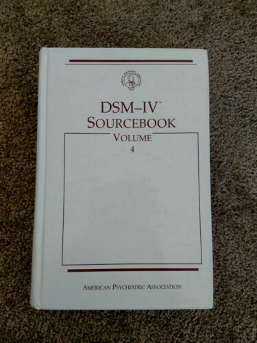 DSM-IV Sourcebook Vol. 4 by APA 1998 Hardcover