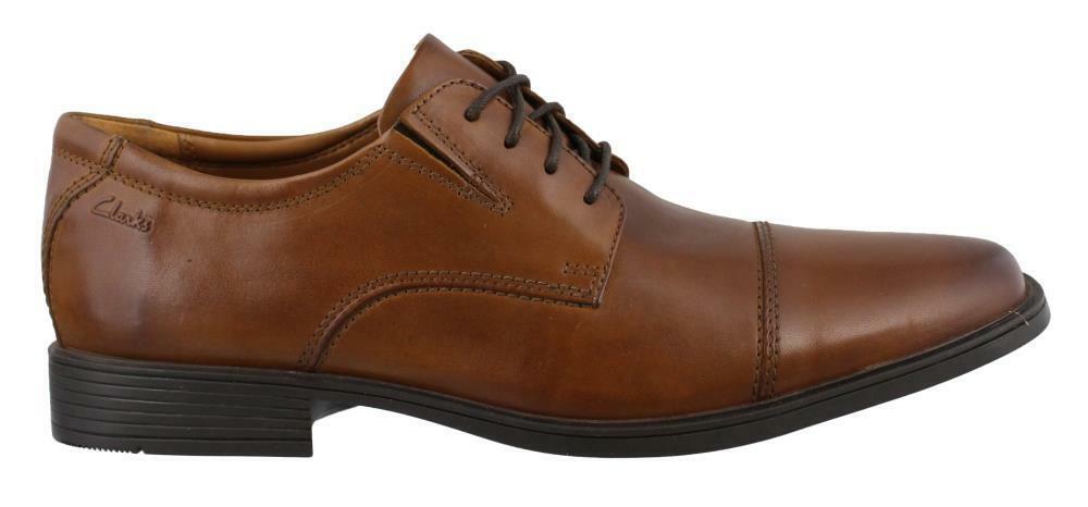 Clarks Tilden Cap Lace Up Chaussures en cuir homme   Lacets Chaussures Talon Bas Taille 11 W