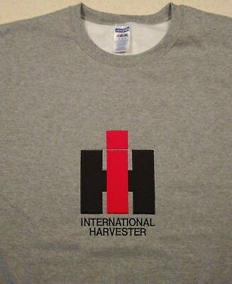 4 colors IH International Harvester Full Front Pullover Sweatshirt