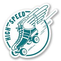 2 x Roller Derby Skates Vinyl Sticker Decal iPad Laptop Decal Car Club Fun #5593