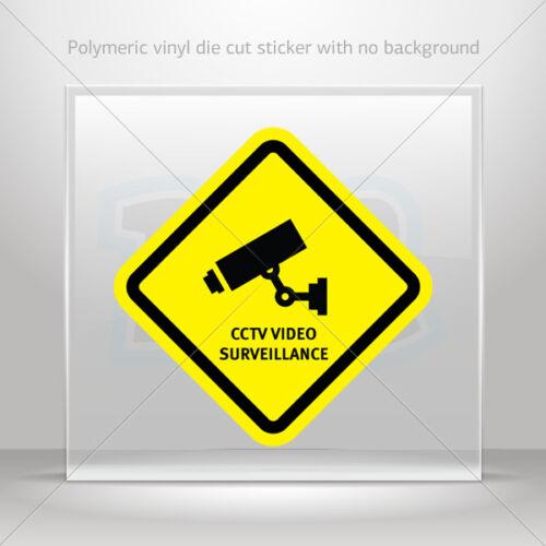 Decals Stickers Cctv Video Surveillance Motorbike Bike Garage st5 X3874