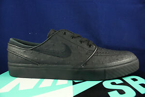 9c5d8957cef NIKE ZOOM STEFAN JANOSKI L LEATHER BLACK ANTHRACITE OSTRICH 616490 ...