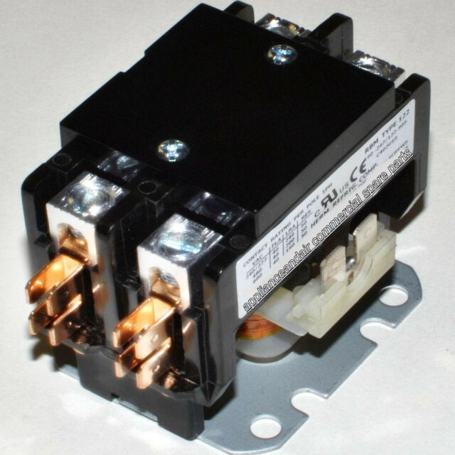Spa Hot Tub Contactor 115Vcoil / Double Pole 240V/50A contacts Heavy Duty +instr
