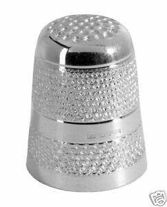 HALLMARKED-SILVER-THIMBLE-ENGLISH-MADE-STERLING-SILVER-SEWING-THIMBLE
