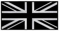 Large Black Union Jack Embroidered Patch British Flag Uk Great Britain Iron-on,