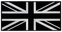 Large Black Union Jack Embroidered Patch British Flag Uk Great Britain Iron-on,