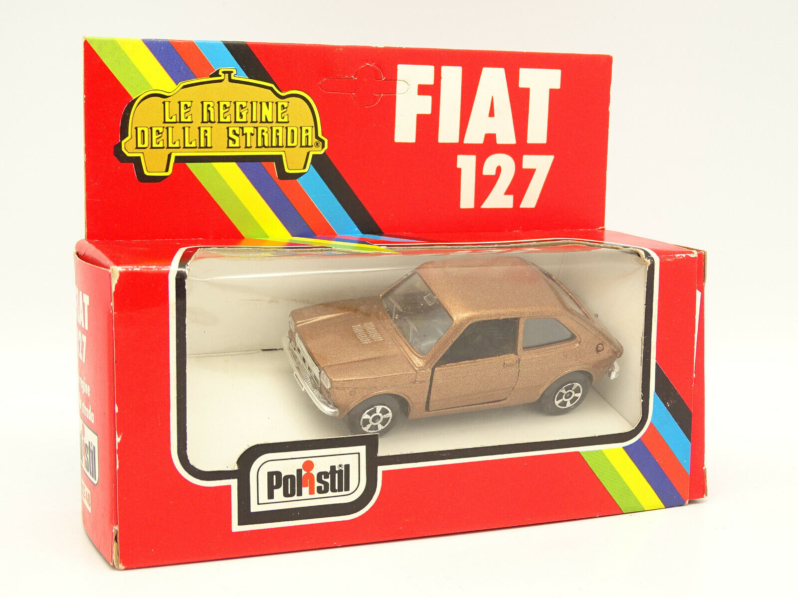 Polistil 1 43 - Fiat 127 brown Metall