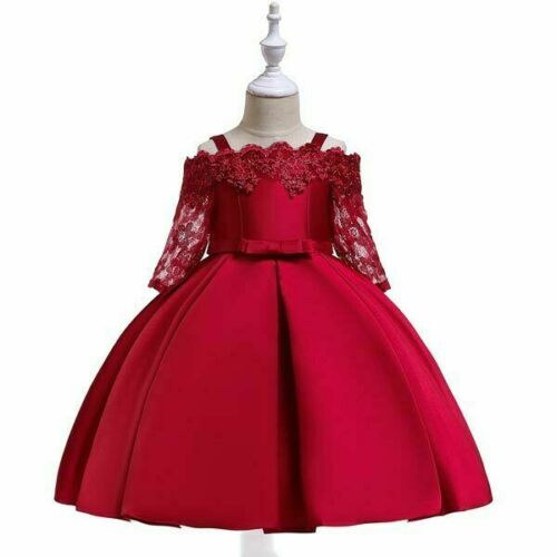 Baby Wedding Kid Bridesmaid Party Girl Dresses Formal Princess Dress Tutu Flower