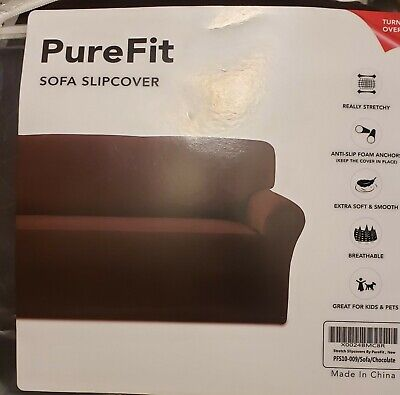 designer Suede Twill Sofa Slipcover in Grey