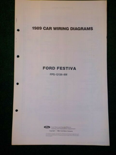 1989 Ford Festiva Electrical Schematic Wiring Diagram