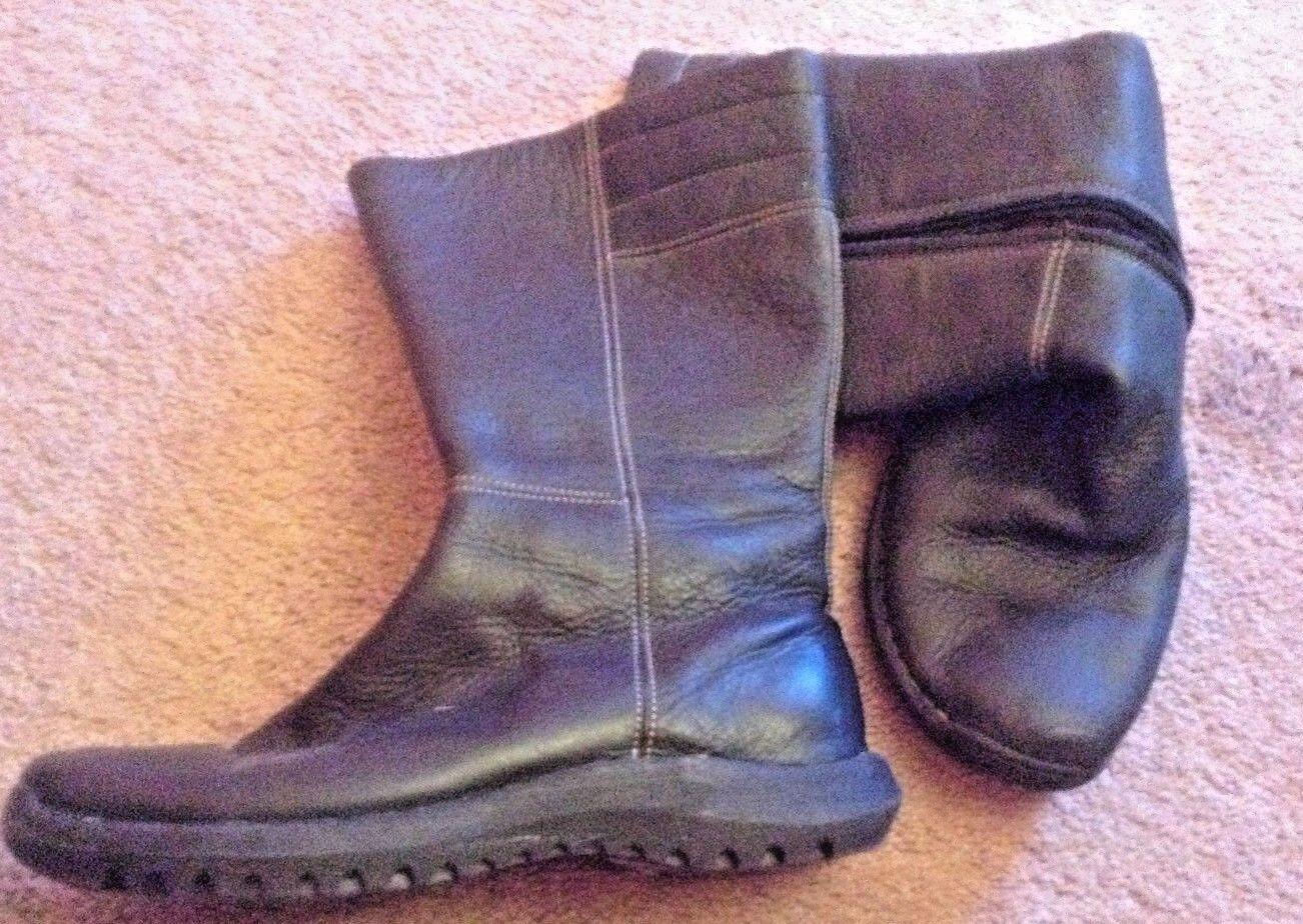Sofft Cuero Negro botas De Cremallera Mitad de pantorrilla comodidad  M lkn usado en excelente estado