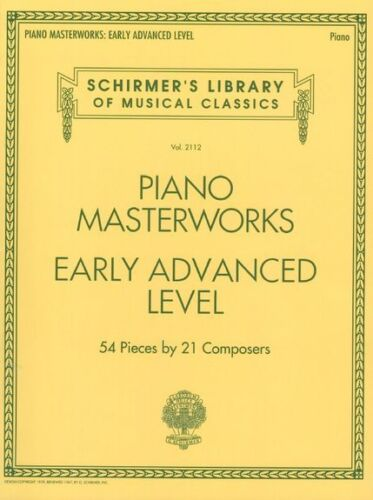 Schirmers Library Of Musical Classics Volume 2112 Piano Early Advanced BOOK