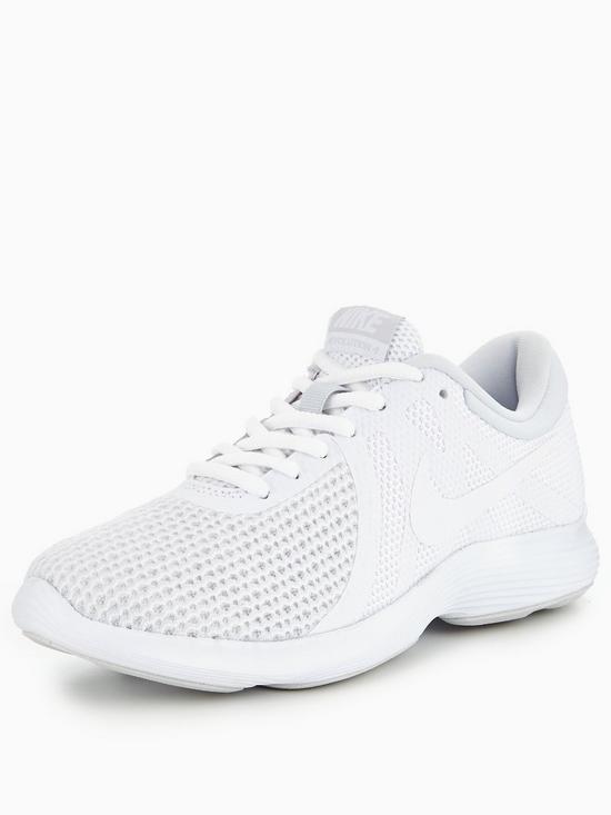 Nike femmes Revolution 4 Trainers, Nike Ladies Running Chaussures - blanc -