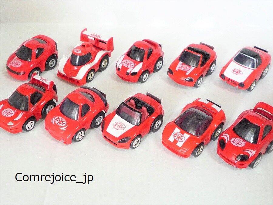 Chgold Q TAKARA Nestle KitKat 10 Cars Set GT-Four Roadstar Supra S800 FTO NSX F S