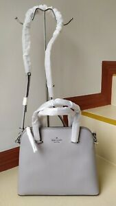 Authentic-KATE-SPADE-Maise-Medium-Dome-Satchel-wkru5883-in-Soft-Taupe-Color