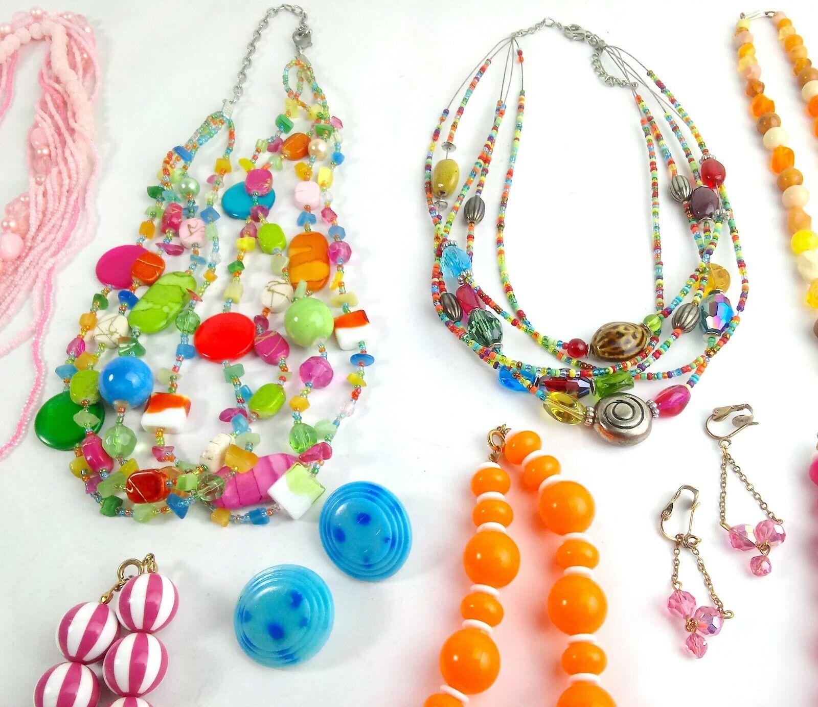Costume Jewelry Lot Necklaces Bracelet Earrings - image 3