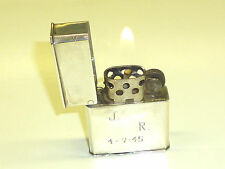VINTAGE WWII MEXICAN STERLING SILVER HEAVY LIGHTER UNUSUAL FLIPTOP STYLE - RARE