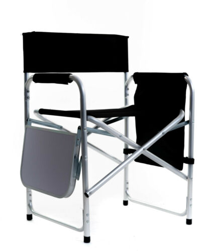 Campingstuhl Regiestuhl Klappstuhl Stuhl Sitz Camping Alu leicht schwarz