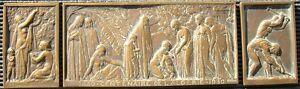 Rare Medaille Tryptique Centenaire De L'algerie 1830-1930 Par Beguet Plaque