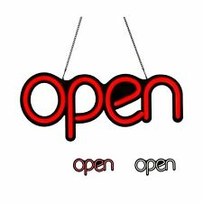 Wetocke Led Neon Open Sign For Business 17x725in Small Size Red Letters 9 An
