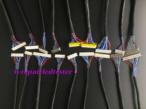 18Pcs 20Pin 30Pin Universal LVDS Cable for LCD Panel Controller 14/'/'-26/'/' Inch