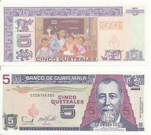 Guatemala-5-Quetzales-2006-UNC-Pick-106b