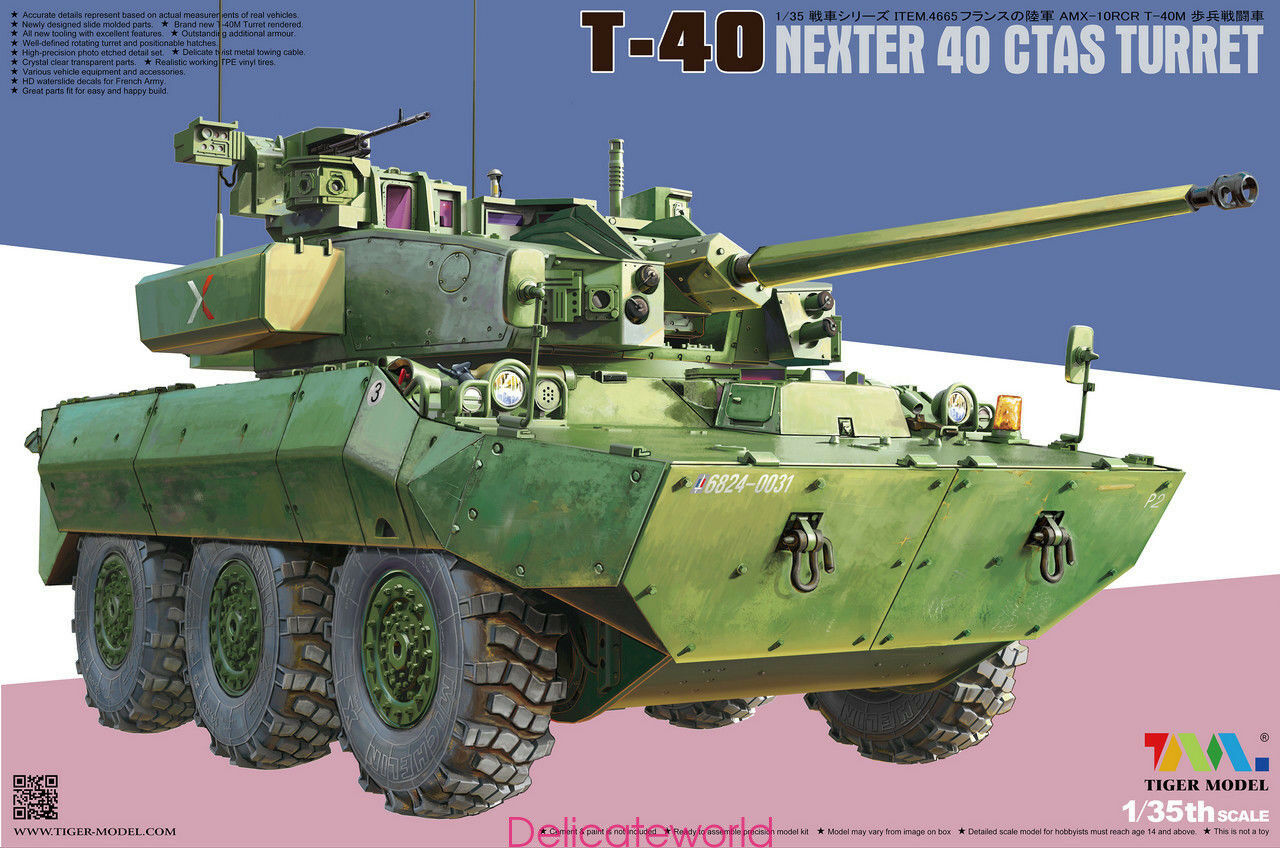 Tiger Model 4665 1 35 AMX-10RCR T-40 Nexter 40 Ctas Turret