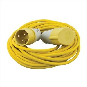 Industrial Socket Extension Leads 14M long 110v & 240v Plug and Socket Leads.